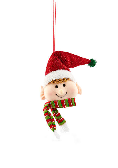 Home Accents® Jingle All the Way 10-in. H Elf Head Ornament