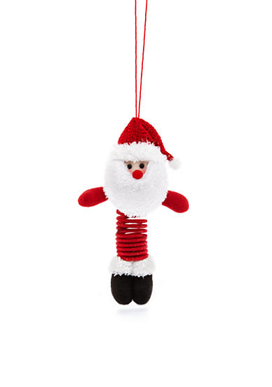 Home Accents® Jingle All the Way 10-in. H Santa Slinky Ornament