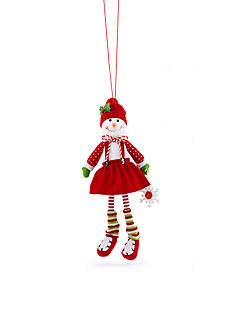 Home Accents® Jingle All the Way Plush Girl Snowman Ornament