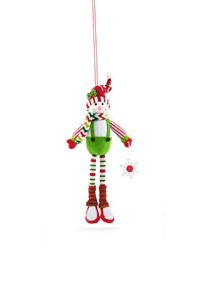 Home Accents® Jingle All the Way Plush Boy Snowman Ornament