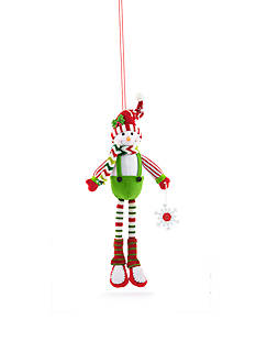 Home Accents Jingle All the Way Plush Boy Snowman Ornament