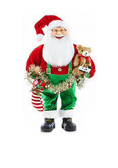 Home Accents Jingle All the Way 24-in. H Juvenile Santa Decor