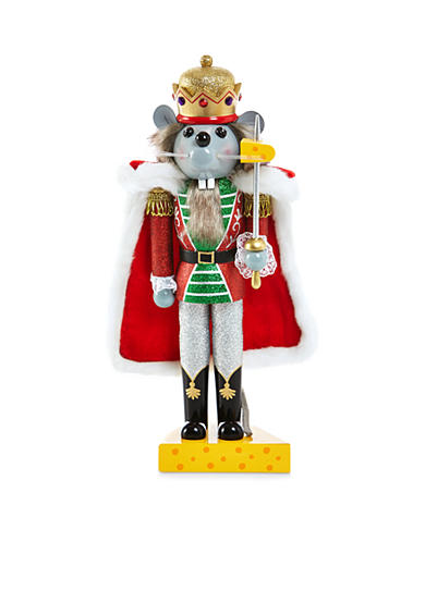 Home Accents® Jingle All the Way Mouse King Nutcracker
