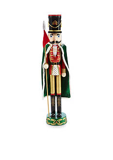 Home Accents Jingle All the Way 4-ft. Red and Green Soldier with Cape Nutcracker