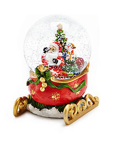 Home Accents Jingle All the Way Santa in Sled Snowglobe
