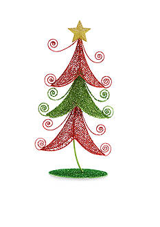 Home Accents Jingle All the Way 25-in. H Red and Green Tree Decor