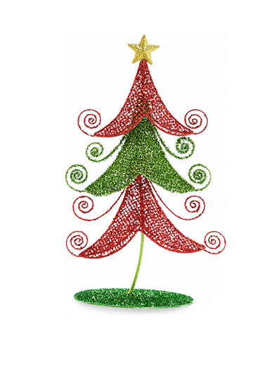 Home Accents® Jingle All the Way 22-in. H Red and Green Tree Decor
