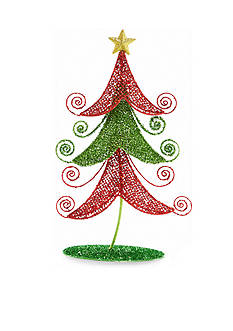 Home Accents Jingle All the Way 22-in. H Red and Green Tree Decor