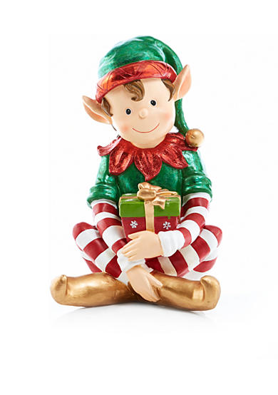 Home Accents® Jingle All the Way Large Sitting Elf Decor