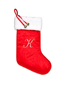 Home Accents® Holiday Traditions K Monogram Stocking