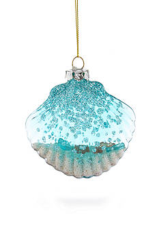 Home Accents® Seas & Greeting Glass Seashell with Sand Inside Ornament