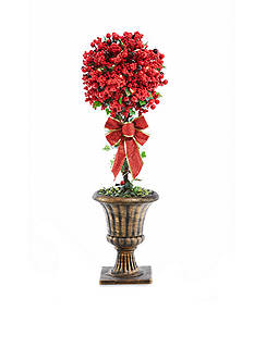 Home Accents 32-in. Topiary with Red and Glitter Berries