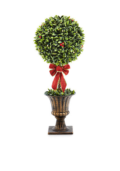 Home Accents 30-in. Topiary Potted Tree with Bow