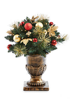 Home Accents 32-in. Potted Porch Tree with Ornaments