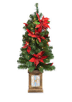 Home Accents® 4-ft. Poinsettia Porch Tree