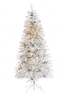 Home Accents® 7-ft. Pre-Lit Silver Metallic Tree