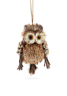 Home Accents Woodland Wonder Sisal Owl Ornament