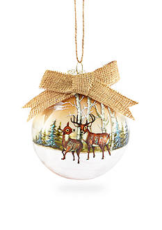 Home Accents Woodland Wonder Deer Ball Ornament with Bow