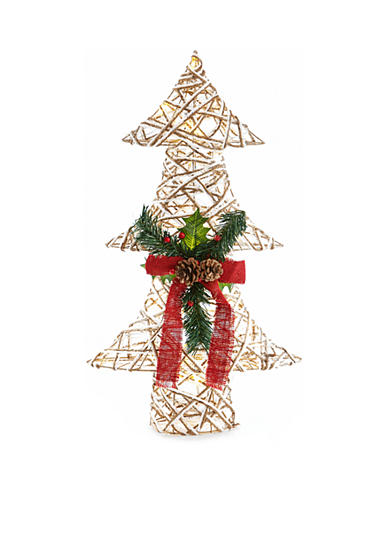 Home Accents® Woodland Wonder Large Jute Christmas Tree with Lights Decor