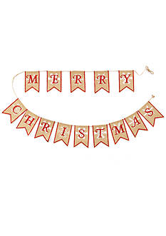 Home Accents® Woodland Wonder Burlap 'Merry Christmas' Garland Decor