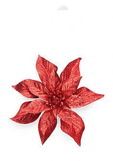 Home Accents Holly Jolly Christmas Poinsettia Clip Ornament