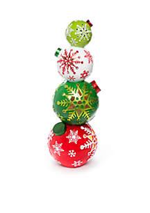 santa stop here stacked ornaments decor - Christmas Tree Ornament