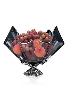 Arthur Court Grapevine Stand with 14-in. Clear Acrylic Bowl