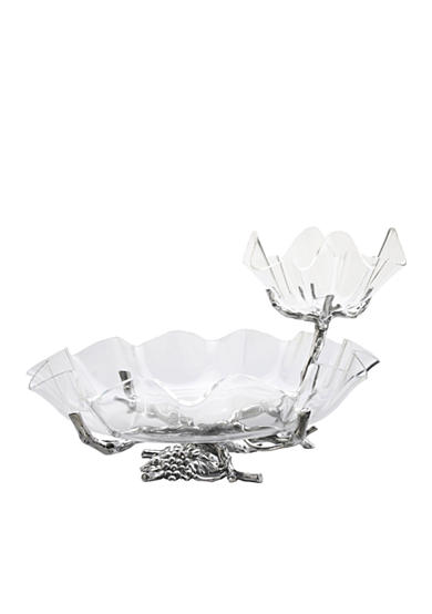 Arthur Court Grape Chip & Dip with Acrylic Bowls