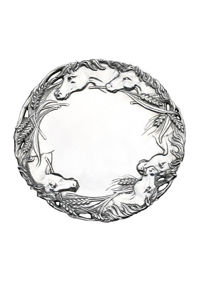 Arthur Court Horse 12-in. Round Tray - Online Only