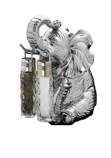 Arthur Court Elephant Hanging Salt & Pepper Set