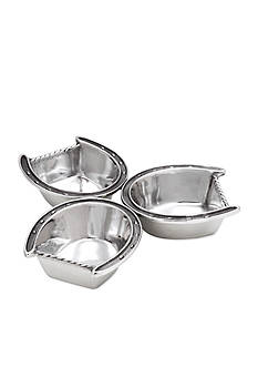 Arthur Court Horseshoe 3-Bowl Server - Online Only