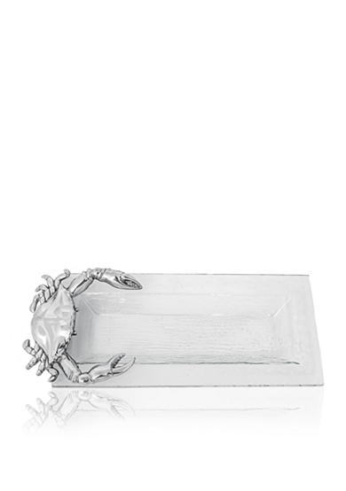 Arthur Court Crab Glass Oblong Tray