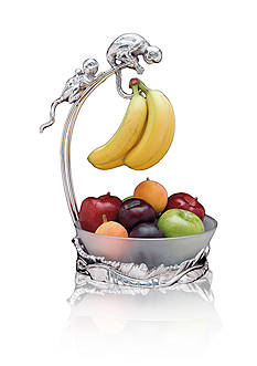 Arthur Court Safari Monkey Banana Holder with Bowl - Online Only