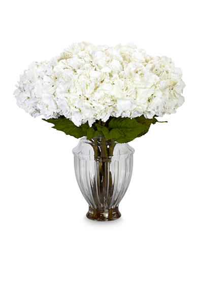 Nearly Natural Large Hydrangea With European Vase Silk Flower Arrangement