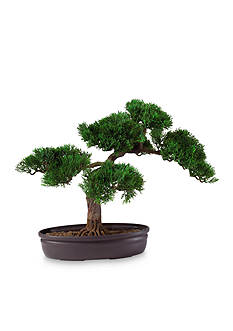 Nearly Natural 16-in. Cedar Bonsai Silk Plant