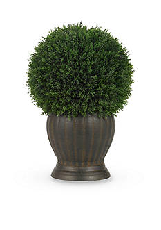 Nearly Natural Cedar Ball Topiary Silk Plant