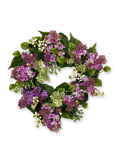 Nearly Natural 20-in. Hanel Lilac Wreath