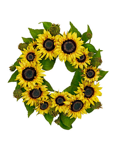 Nearly Natural 22-in. Sunflower Wreath