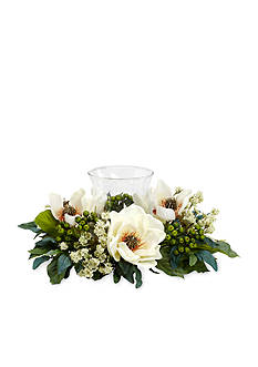 Nearly Natural Magnolia Silk Flower Candelabrum Arrangement