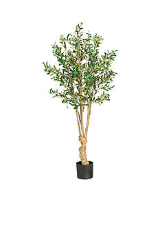 Nearly Natural 5-Foot Olive Silk Tree