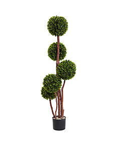 Nearly Natural 4-Foot Boxwood Topiary Tree x5 UV Resistant -Indoor/Outdoor