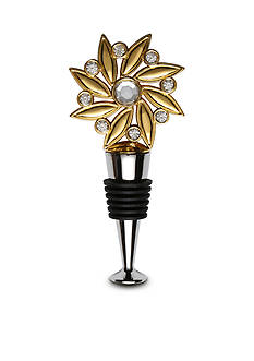 Thirstystone Gold Flower Bling Wine Stopper