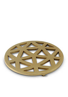 Thirstystone Geometric Cut Aluminum Trivet with Gold Finish