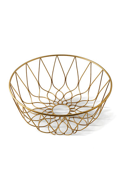 Thirstystone Old Hollywood 12-in. Gold Wire Basket