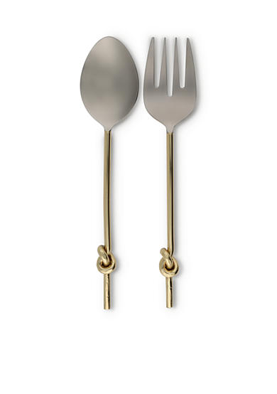 Thirstystone S/2 Gold Knot Salad Servers