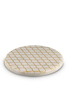 Thirstystone Round Marble Trivet With Gold Pattern