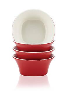 Rachael Ray Round & Square 4-Piece Stoneware Fruit Bowl Set