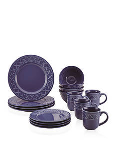 Paula Deen Savannah Trellis 16-Piece Stoneware Dinnerware Set