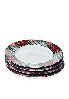 Ralph Lauren Templeton Tartan Dessert Plates Set of 4