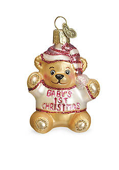 Old World Christmas 4-in. Baby's First Teddy Bear Ornament - Girl